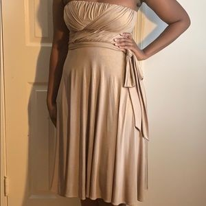Gold & Shimmery Cocktail Dress